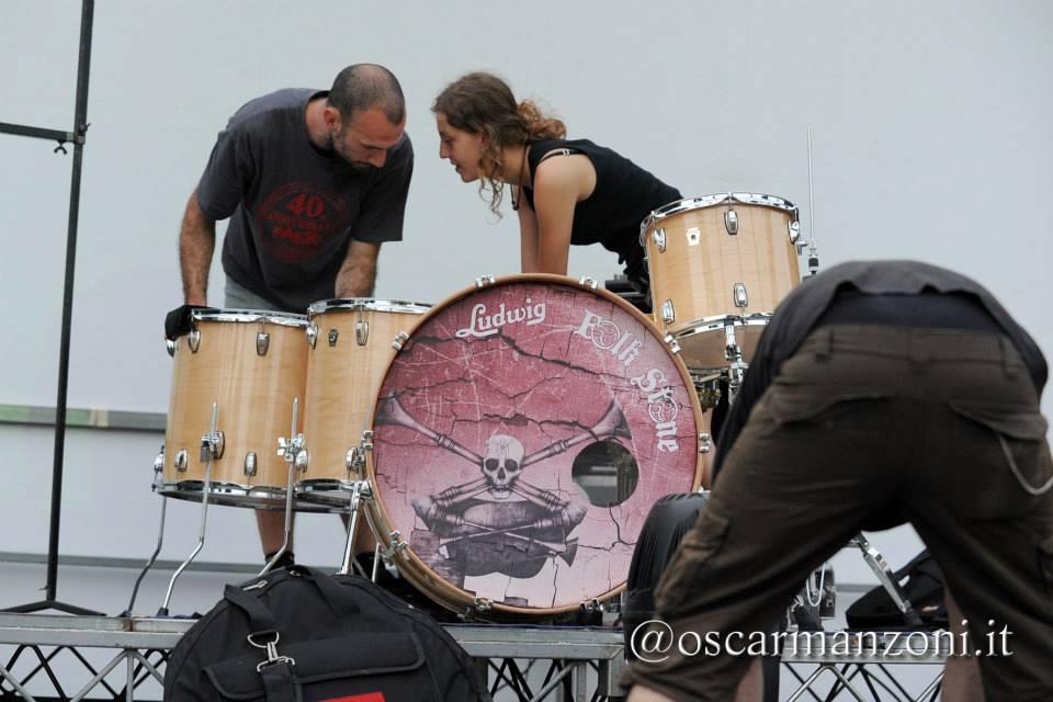 Folkstone a WOODinSTOCK 2013 - Backstage © Oscar Manzoni