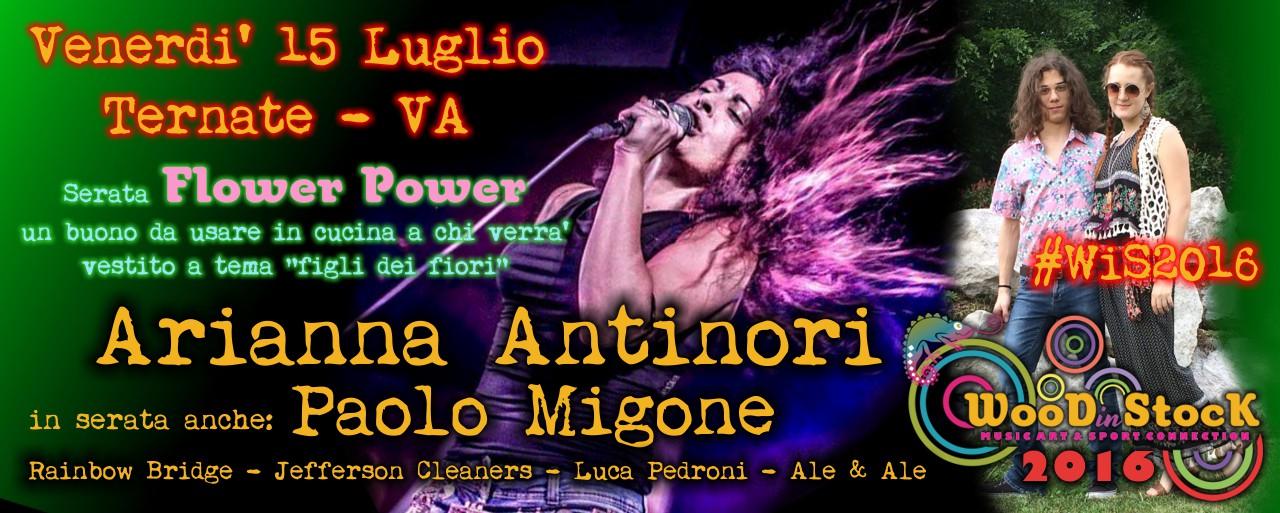 Flower Power e Arianna Antinori a WOODinSTOCK 2016