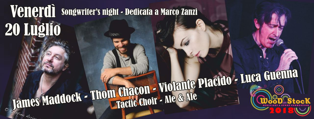 WOODinSTOCK 2018 - Songwriter's night dedicata a Marco Zanzi